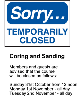 Coring & Sanding notice
