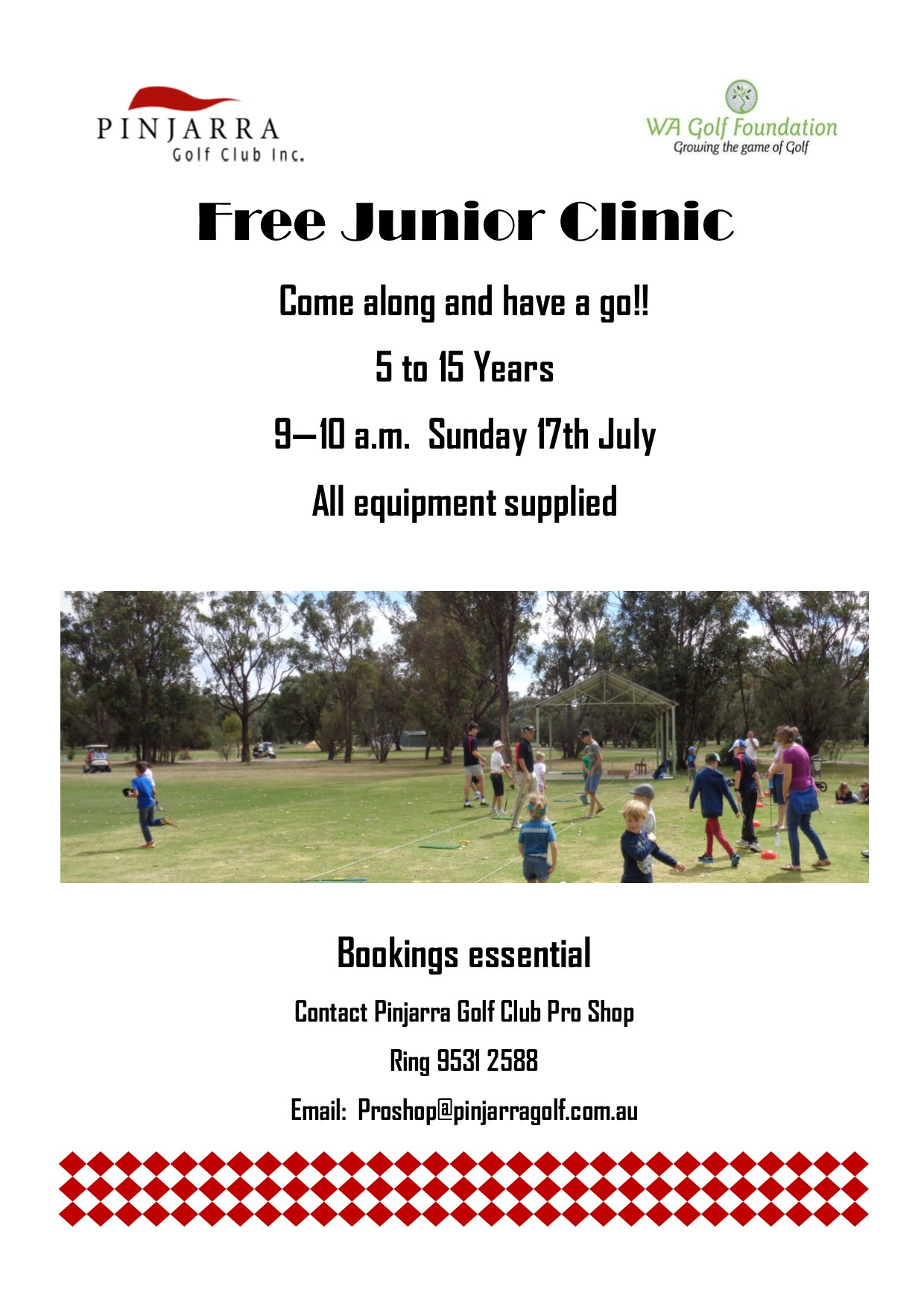 Free Junior Clinic A4 July 2016